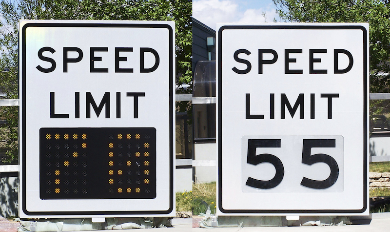 Skyline Products variable speed limit signs