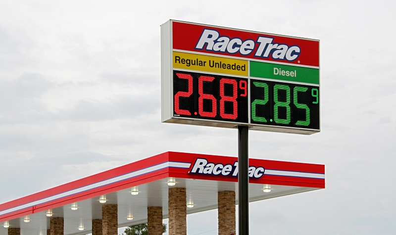 RaceTrac LED Gas Price Sign